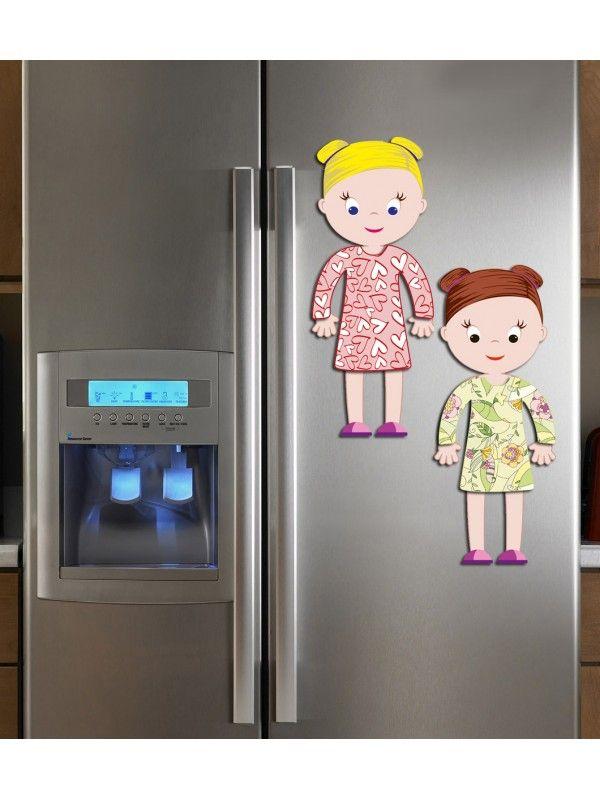 """Magneta lelles komplekts """"Stilīgie mazulīši"""" - Chloe & Amelia BeCrea - 3"""