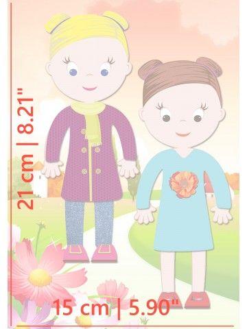 """Магнитная кукла-одевалка """"Маленькие модницы"""" - Chloe & Amelia BeCrea - 5"""