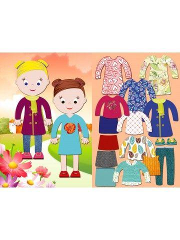 """Магнитная кукла-одевалка """"Маленькие модницы"""" - Chloe & Amelia BeCrea - 1"""