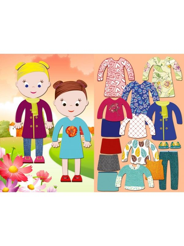 """Little Fashionista`s"" Magnetic Dress-Up Doll - Chloe & Amelia BeCrea - 1"