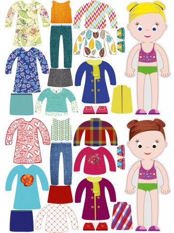 """Little Fashionista`s"" Magnetic Dress-Up Doll - Chloe & Amelia BeCrea - 2"