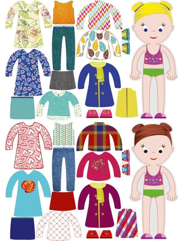 """Магнитная кукла-одевалка """"Маленькие модницы"""" - Chloe & Amelia BeCrea - 2"""