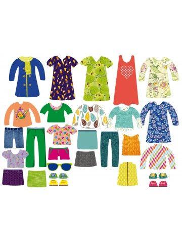 """Магнитная кукла-одевалка """"Маленькие модницы"""" - Jessica & Ruby BeCrea - 2"""