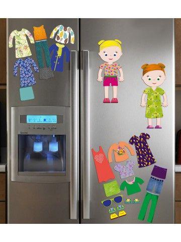 """Magneta lelles komplekts """"Stilīgie mazulīši"""" - Jessica & Ruby BeCrea - 3"""