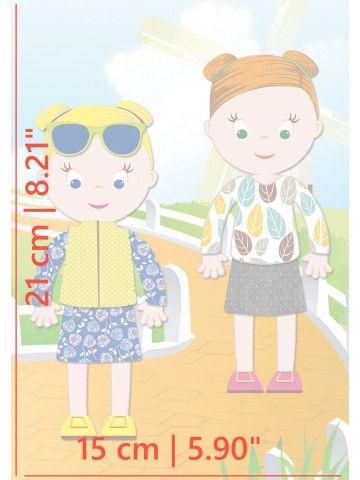 """Magneta lelles komplekts """"Stilīgie mazulīši"""" - Jessica & Ruby BeCrea - 5"""