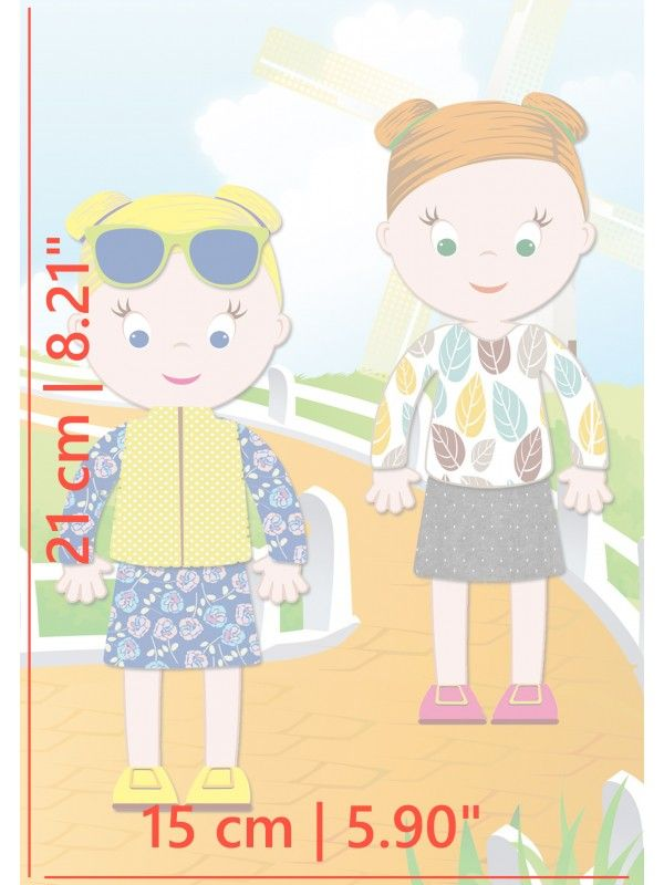 """Little Fashionista`s"" Magnetic Dress-Up Doll - Jessica & Ruby BeCrea - 5"