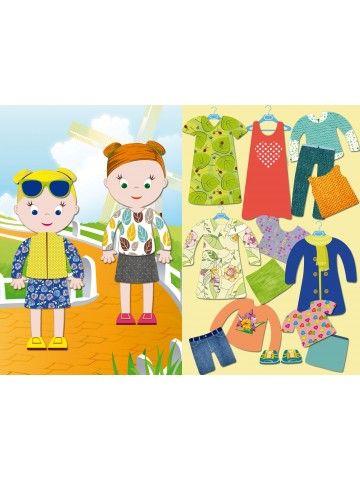 """Магнитная кукла-одевалка """"Маленькие модницы"""" - Jessica & Ruby BeCrea - 1"""