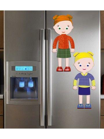 """Magneta lelles komplekts """"Stilīgie mazulīši"""" - Emily & Isabella BeCrea - 4"""
