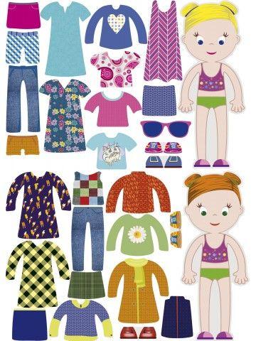 """Магнитная кукла-одевалка """"Маленькие модницы"""" - Emily & Isabella BeCrea - 2"""