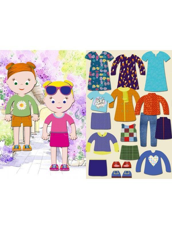 """Магнитная кукла-одевалка """"Маленькие модницы"""" - Emily & Isabella BeCrea - 1"""