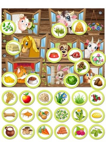 Magnetic Game - feed the animals BeCrea - 1