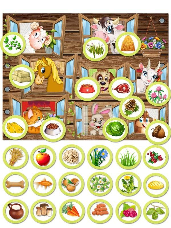 Магнитная игра - Покорми животное BeCrea - 1