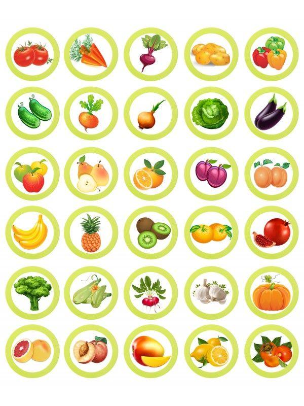 Магнитная игра - Фрукты и овощи BeCrea - 3