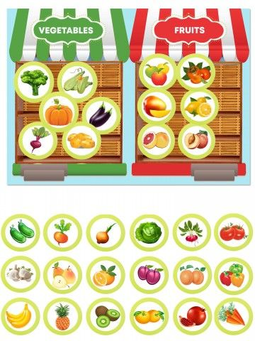 (RU) Magnetic Game - Fruits and vegetables BeCrea - 1