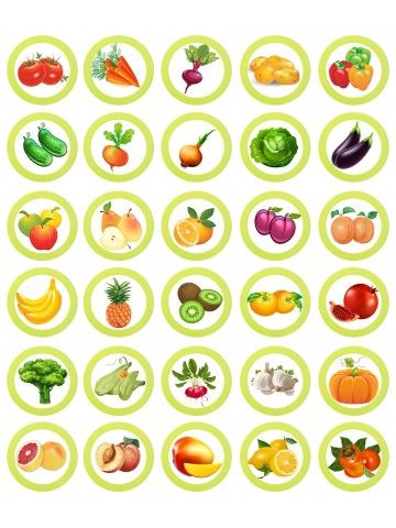 (RU) Magnetic Game - Fruits and vegetables BeCrea - 3