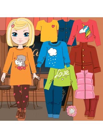"""Magneta lelles komplekts """"Stilīgie mazulīši"""" - Amanda BeCrea - 1"""