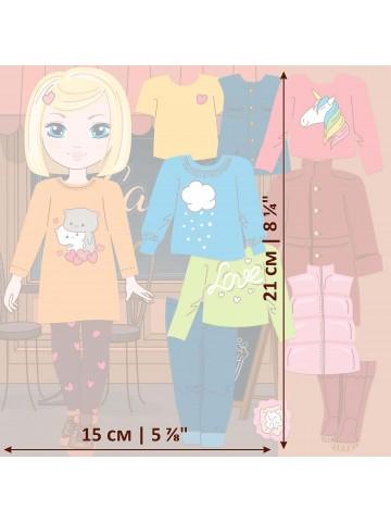 """Магнитная кукла-модель """"Маленькие модницы"""" - Amanda BeCrea - 3"""