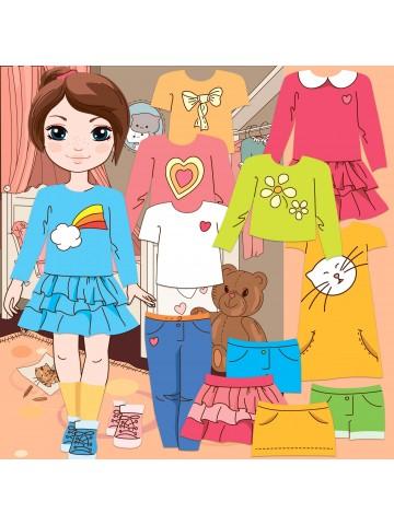 """Магнитная кукла-модель """"Маленькие модницы"""" - Isabella BeCrea - 1"""