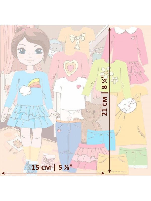 "Magnetic Dress-Up Doll ""Little Fashionista`s"" - Isabella BeCrea - 3"