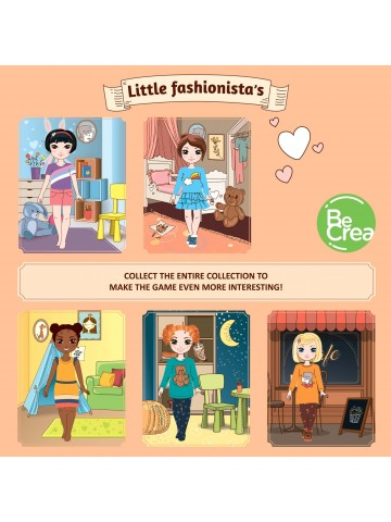 """Magnetic Dress-Up Doll """"Little Fashionista`s"""" - Isabella BeCrea - 6"""