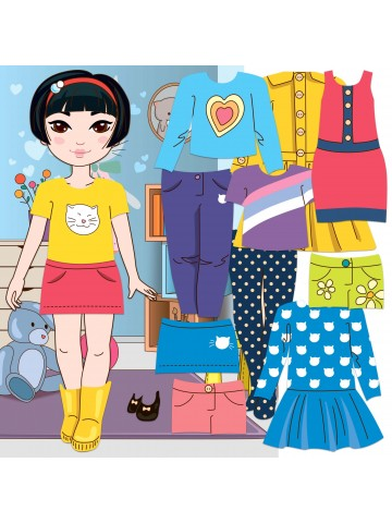 "Magnetic Dress-Up Doll ""Little Fashionista`s"" - Mia BeCrea - 1"