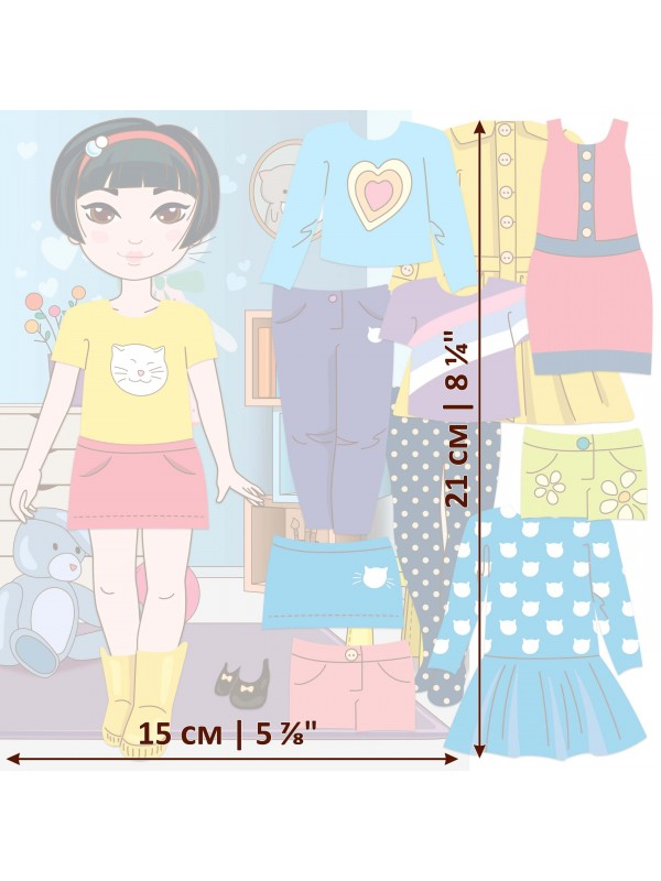 """Magnetic Dress-Up Doll """"Little Fashionista`s"""" - Mia BeCrea - 3"""