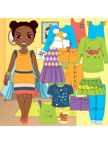 """Magnetic Dress-Up Doll """"Little Fashionista`s"""" - Michelle BeCrea - 1"""