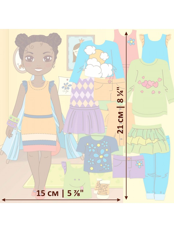 "Magnetic Dress-Up Doll ""Little Fashionista`s"" - Michelle BeCrea - 3"