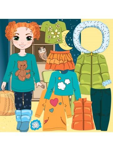 """Магнитная кукла-модель """"Маленькие модницы"""" - Olivia BeCrea - 1"""
