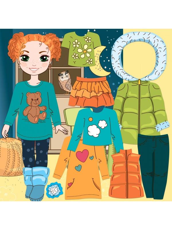 """Magneta lelles komplekts """"Stilīgie mazulīši"""" - Olivia BeCrea - 1"""
