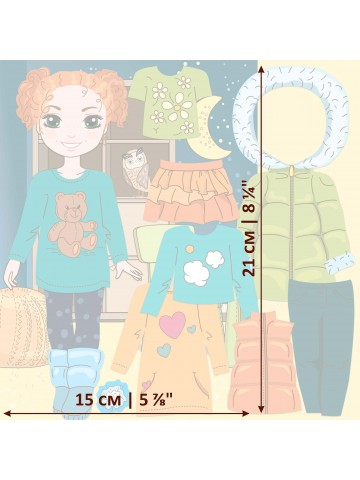 "Magnetic Dress-Up Doll ""Little Fashionista`s"" - Olivia BeCrea - 3"