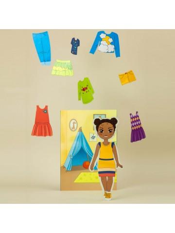 """Магнитная кукла-модель """"Маленькие модницы"""" - Michelle BeCrea - 4"""
