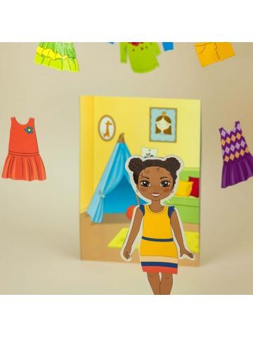 """Магнитная кукла-модель """"Маленькие модницы"""" - Michelle BeCrea - 5"""