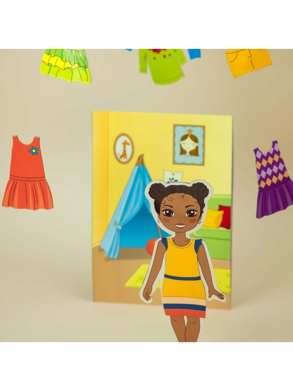 """Magnetic Dress-Up Doll """"Little Fashionista`s"""" - Michelle BeCrea - 5"""