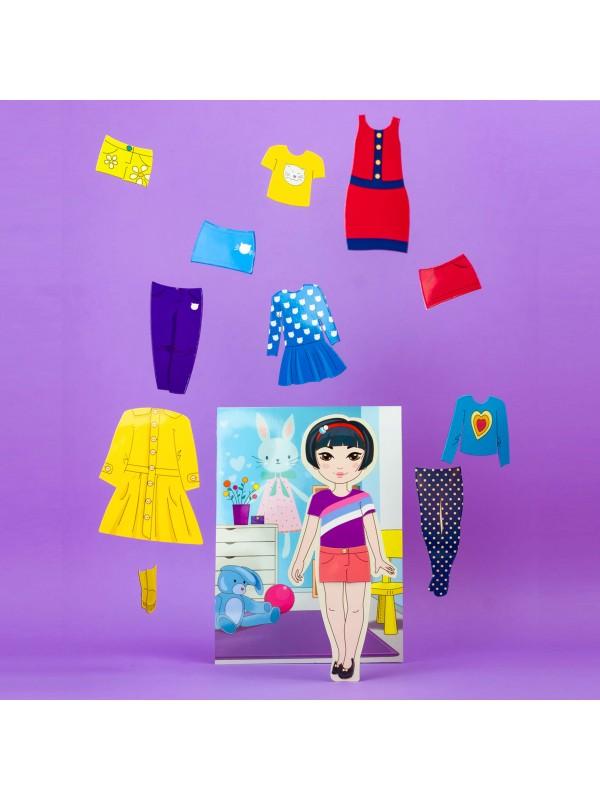 """Magnēta lelles komplekts """"Stilīgie mazulīši"""" - Mia BeCrea - 4"""