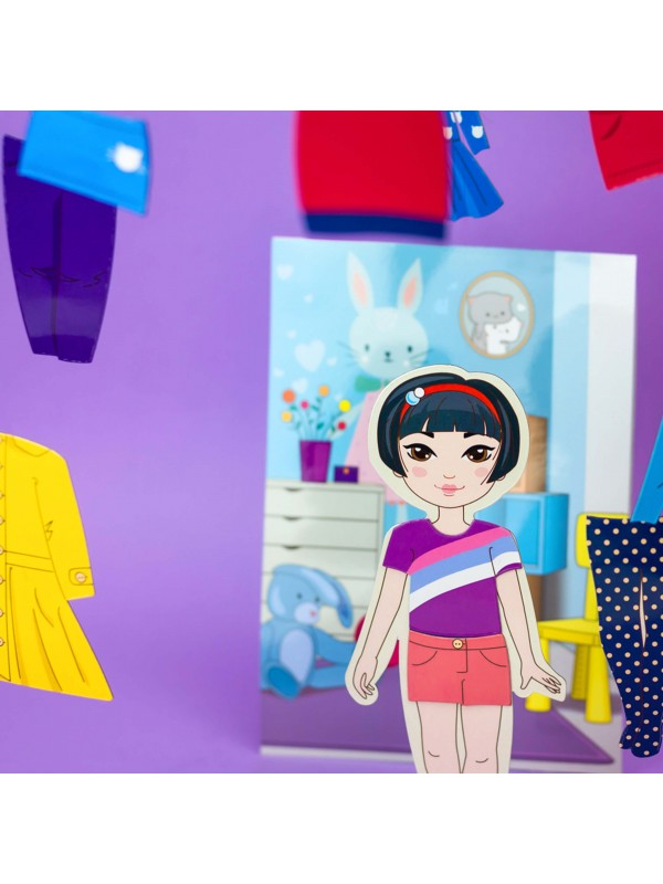 """Magnetic Dress-Up Doll """"Little Fashionista`s"""" - Mia BeCrea - 5"""