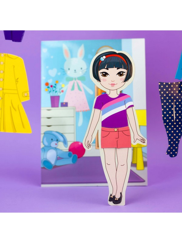 """Magnetic Dress-Up Doll """"Little Fashionista`s"""" - Mia BeCrea - 6"""