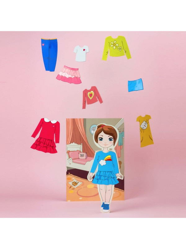 """Magnetic Dress-Up Doll """"Little Fashionista`s"""" - Isabella BeCrea - 4"""