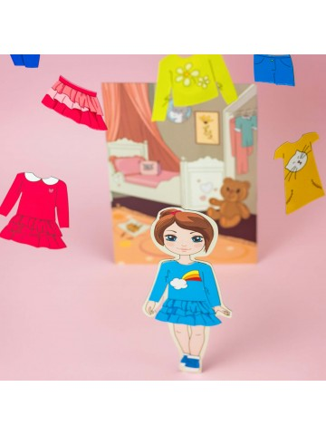 """Magnetic Dress-Up Doll """"Little Fashionista`s"""" - Isabella BeCrea - 5"""