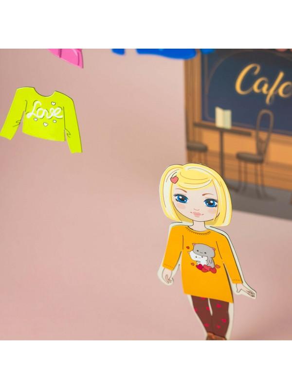 """Little Fashionista`s"" Magnetic Dress-Up Doll - Amanda BeCrea - 5"