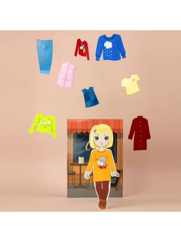 """Little Fashionista`s"" Magnetic Dress-Up Doll - Amanda BeCrea - 4"