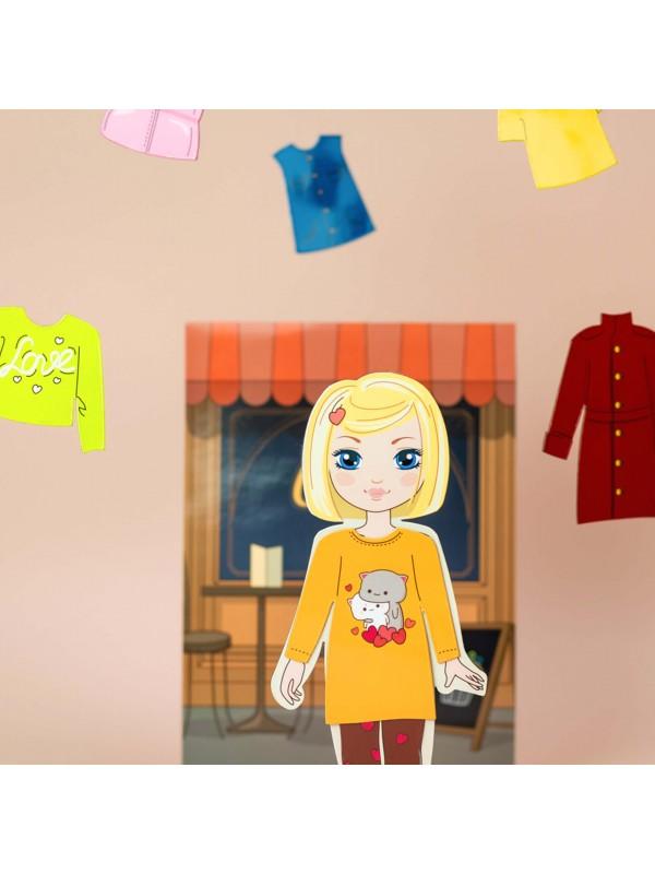 """Little Fashionista`s"" Magnetic Dress-Up Doll - Amanda BeCrea - 6"