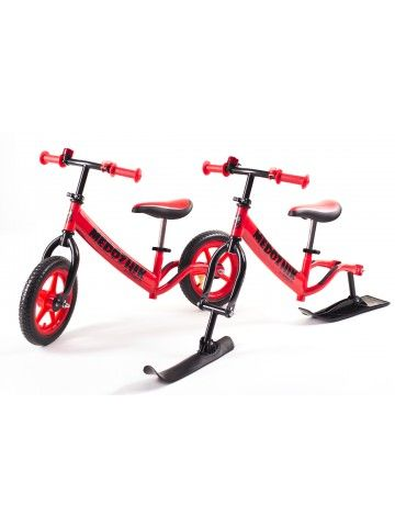 Balance bike - Snow scooter Medozhik X Red Medozhik - 1