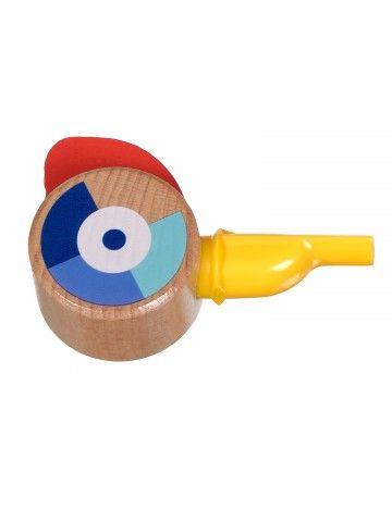 Свисток жёлтый - обучающие деревянные игрушки Lucy&Leo Lucy&Leo - 1