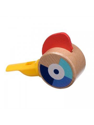 Свисток жёлтый - обучающие деревянные игрушки Lucy&Leo Lucy&Leo - 2