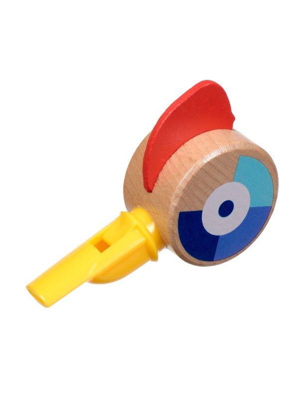 Свисток жёлтый - обучающие деревянные игрушки Lucy&Leo Lucy&Leo - 3