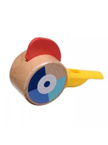 Свисток жёлтый - обучающие деревянные игрушки Lucy&Leo Lucy&Leo - 4