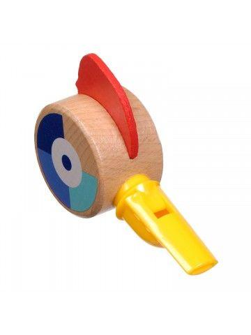 Свисток жёлтый - обучающие деревянные игрушки Lucy&Leo Lucy&Leo - 5