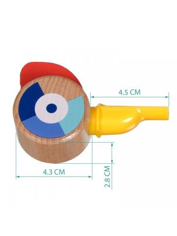 Свисток жёлтый - обучающие деревянные игрушки Lucy&Leo Lucy&Leo - 8