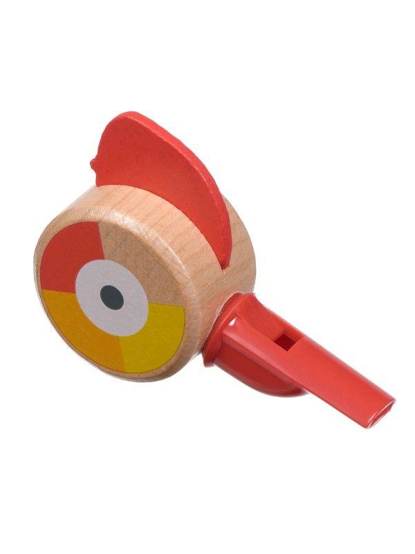 Свисток красный - обучающие деревянные игрушки Lucy&Leo Lucy&Leo - 4